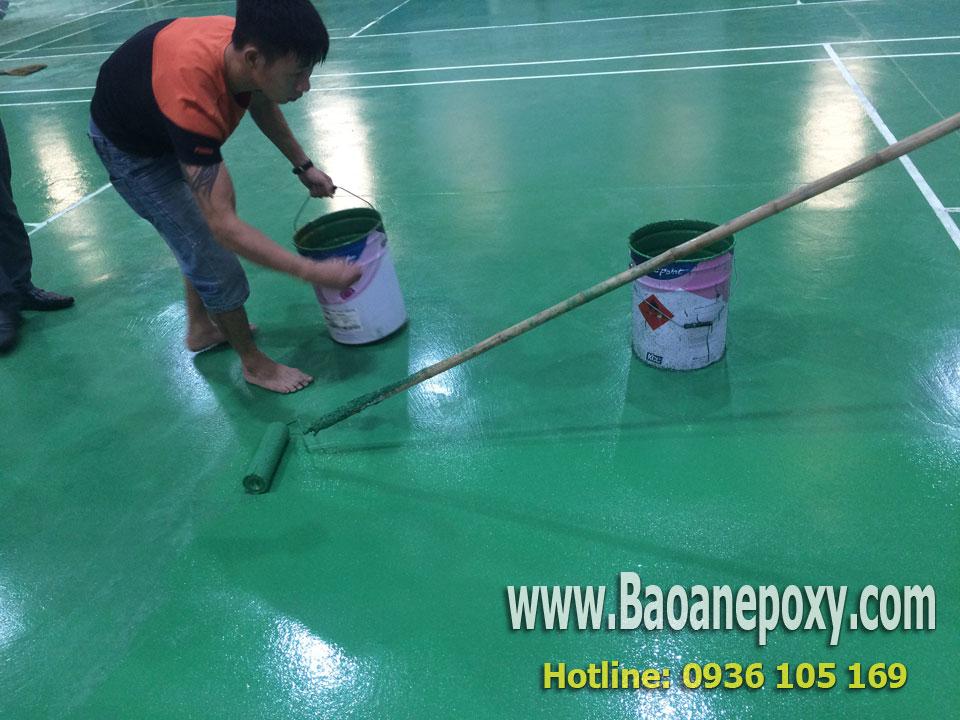 Thi công sơn epoxy chống trơn trượt hàn quốc