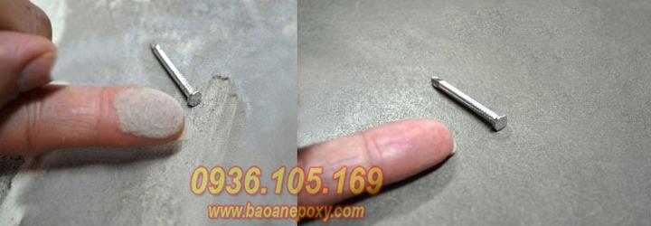 Nền bê tông trước và xử lý hóa chất đánh bóng