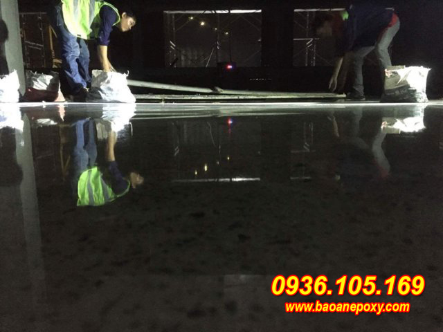 sàn bê tông siêu bóng
