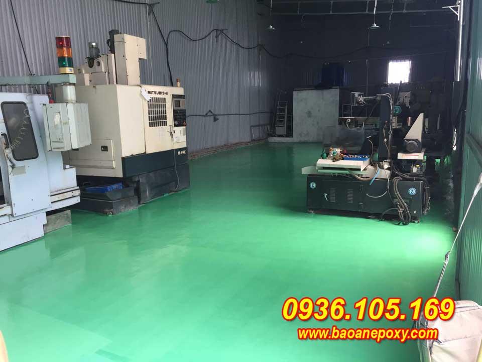 Sơn epoxy cải tạo nhà xưởng tại xưởng cơ khí FBT - Xuân Phương Hà Nội