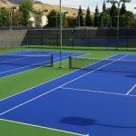 Mặt sân tennis hoàn thiện